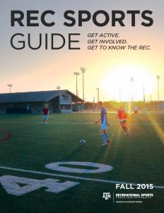 Fall 2015 Rec Sports Guide
