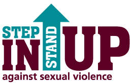 Step In Stand Up Against Sexual Violence Logo